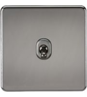 ML ACCESSORIES Screwless 10A 1G 2-Way Toggle Switch - (Black Nickel)