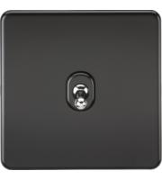 ML ACCESSORIES Screwless 10A 1G 2-Way Toggle Switch - (Matt Black)