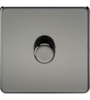 ML ACCESSORIES Screwless 1G 2 Way 10-200W Dimmer - (Black Nickel)