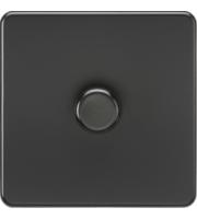ML ACCESSORIES Screwless 1G 2 Way 10-200W Dimmer - (Matt Black)