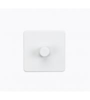 ML ACCESSORIES Screwless 1G 2 Way 10-200W Dimmer - (Matt White)