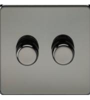 ML ACCESSORIES Screwless 2G 2 Way 10-200W Dimmer - (Black Nickel)