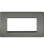 ML ACCESSORIES Screwless 4G Modular Faceplate - (Black Nickel)