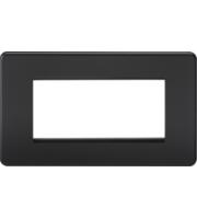 ML ACCESSORIES Screwless 4G Modular Faceplate - (Matt Black)