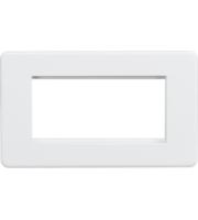 ML ACCESSORIES Screwless 4G Modular Faceplate - (Matt White)