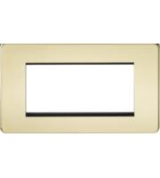 ML ACCESSORIES Screwless 4G Modular Faceplate - (Polished Brass)