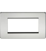 ML ACCESSORIES Screwless 4G Modular Faceplate - (Polished Chrome)