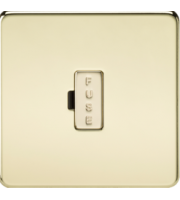 ML ACCESSORIES Screwless 13A Fused Spur Unit - (Polished Brass)
