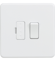 ML ACCESSORIES Screwless 13A Switched Fused Spur Unit - (Matt White)