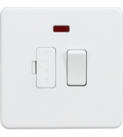 ML ACCESSORIES Screwless 13A Switched Fused Spur Unit With Neon - (Matt White)