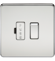 ML ACCESSORIES Screwless 13A Switched Fused Spur Unit - (Polished Chrome)