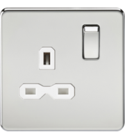ML Accessories Screwless 13A 1G DP Switched Socket (Polished Chrome)