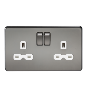 ML Accessories Screwless 13A 2G DP Switched Socket (Black Nickel)