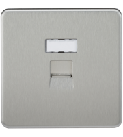 ML Accessories Screwless RJ45 Network Outlet (Brushed Chrome)