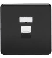 ML Accessories Screwless RJ45 Network Outlet (Matt Black)