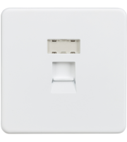 ML Accessories Screwless RJ45 Network Outlet (Matt White)