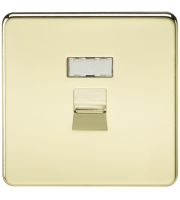 ML Accessories Screwless RJ45 Network Outlet (Polished Brass)