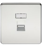 ML Accessories Screwless RJ45 Network Outlet (Polished Chrome)