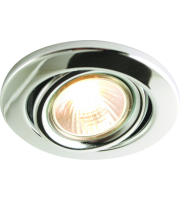 ML Accessories IP20 GU10 Recessed Tilt Downlight (Chrome)