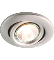 ML Accessories IP20 GU10 Recessed Tilt Downlight (Brushed Chrome)