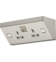 ML ACCESSORIES 13A 2G Dp Mounting Socket - Stainless Steel With Grey Insert
