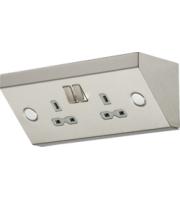 Knightsbridge 2G Mounting DP Switched Socket (Steel)