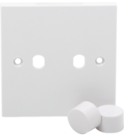 ML ACCESSORIES 2G Plate With Dimmer Knobs