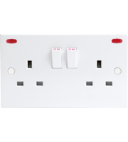 ML ACCESSORIES 13A 2G Dp Switched Socket With Neon