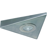 ML ACCESSORIES IP20 20W Mini Triangular Under Cabinet Fitting In (Brushed Chrome)