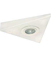 ML ACCESSORIES IP20 Mini Triangular Under Cabinet Fitting In (White)