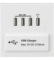 ML ACCESSORIES 1G Quad Usb Charger 5V Dc 5.1A