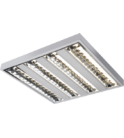 ML ACCESSORIES IP20 4x14W T5 Surface Mounted Fluorescent Fitting 595x595x75mm