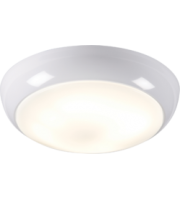 ML ACCESSORIES IP44 16W Hf Polo Bulkhead With Opal Diffuser And White Base