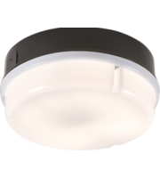 ML ACCESSORIES IP65 16W Round Bulkhead With Opal Diffuser And Black Base