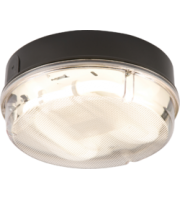 ML ACCESSORIES IP65 16W Hf Round Bulkhead With Prismatic Diffuser And Black Base