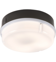 ML ACCESSORIES IP65 28W Hf Round Bulkhead With Opal Diffuser And Black Base