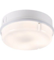 ML ACCESSORIES IP65 28W Hf Round Emergency Bulkhead With Opal Diffuser And White Base