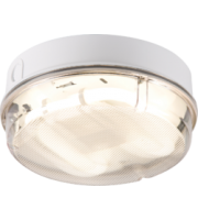 ML ACCESSORIES IP65 28W Hf Round Emergency Bulkhead With Prismatic Diffuser And White Base