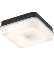 ML ACCESSORIES IP65 28W Hf Square Emergency Bulkhead With Opal Diffuser And Black Base