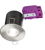 ML ACCESSORIES 230V Fixed GU10 Fire-rated Downlight Brushed Chrome