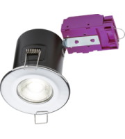 ML ACCESSORIES 230V Fixed GU10 Fire-rated Downlight Chrome