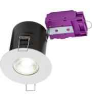 ML ACCESSORIES 230V Fixed GU10 Fire-rated Downlight White