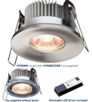 ML ACCESSORIES Proknight Led IP65 8W Fire-rated Downlight 2700K