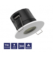 NET LED Tadlow 90 Minute Fire Rated Tri-colour Downlight Emergency