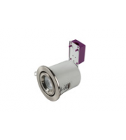 Robus Starling 50W Mains Voltage Die Cast Fire Rated, Brushed Chrome, Dimmable.