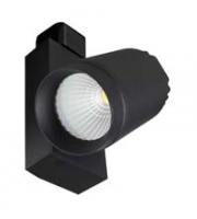 Robus Trek 12W Led Track Spot, IP20, Black, 4000K