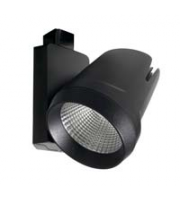 Robus Tram 25W Led Track Spot, Dimmable, IP20, Black, 4000K