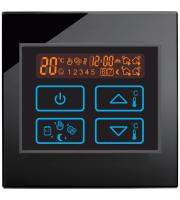 Retro Touch Underfloor Heating Electric Touch Thermostat Switch (Black)