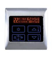Retro Touch Underfloor Heating Electric Touch Thermostat (Brushed Aluminium)