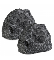 Retrotouch Lithe Audio Bluetooth & Passive Garden Rock Speakers (Graphite)